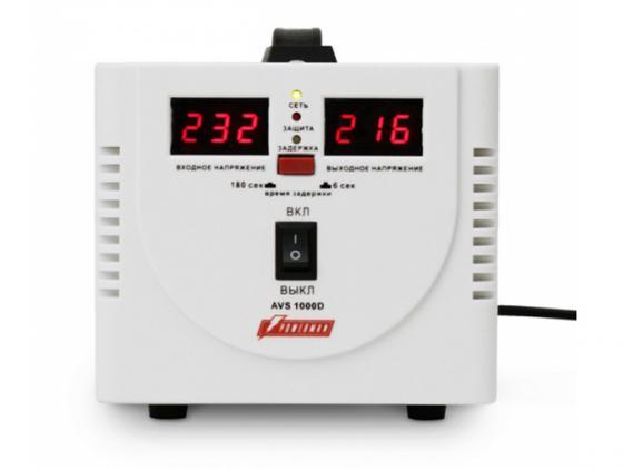 Стабилизатор напряжения Powerman AVS 1000D 2 розетки белый
