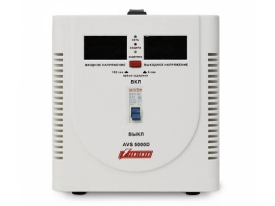 Стабилизатор напряжения Powerman AVS 5000D 1 розетка белый