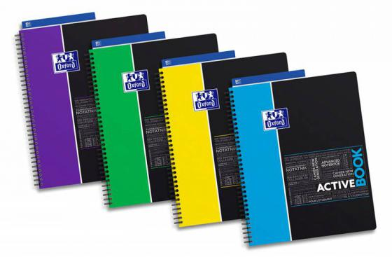 Тетрадь Landre Oxford Sos Notes Activebook 400037402 240x297мм 80л линейка двойная спираль обложка полипропилен тетрадь oxford organiserbook sos notes 400037404 a4 pp 80л линейка папка с 3 клапанами спираль двойная