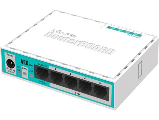 Маршрутизатор Mikrotik hEX lite 5x10/100 Mbps RB750r2