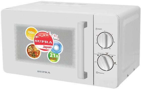 Микроволновая печь Supra MWS-2103MW 21 л белый микроволновая печь supra mws 2103mw
