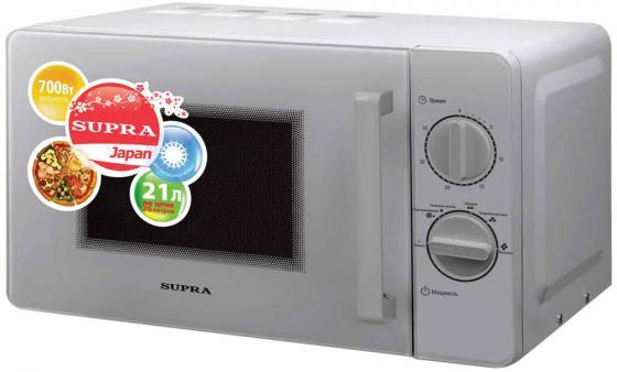цена на Микроволновая печь Supra MWS-2103MS 21 л серебристый