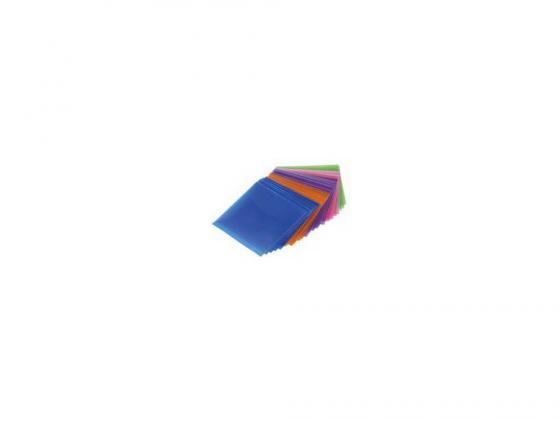 Конверты Hama для CD/DVD полипропилен 5 цветов 50шт H-51067 конверты hama для cd dvd бумажные с прозрачным окошком белый 25шт h 51060