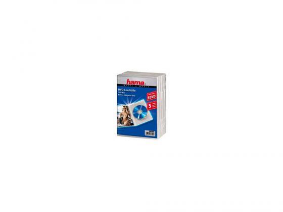 все цены на Коробка HAMA для 5 DVD пластик прозрачный H-83895