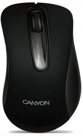 Мышь проводная Canyon CNE-CMS2 чёрный USB canyon мышь canyon cne cms3 проводная silver