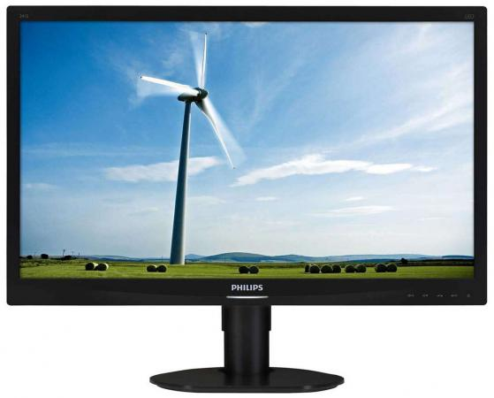 "Монитор 24"" Philips 241S4LCB черный TN 1920x1080 250 cd/m^2 5 ms DVI VGA цена и фото"