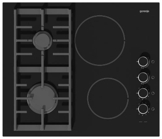 Варочная панель комбинированная Gorenje KC621USC черный варочная панель электрическая gorenje ect693orab черный
