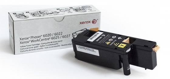 Картридж Xerox 106R02762 для Xerox WorkCentre 6025 WorkCentre 6027 Phaser 6020 Phaser 6022 1000 Желтый картридж sakura 106r02181 для xerox phaser 3010 черный 1000 к