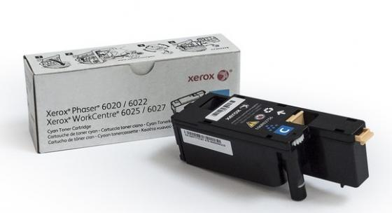 Картридж Xerox 106R02760 для Phaser 6020/6022/WorkCentre 6025/6027 голубой 1000стр картридж xerox 106r02762 phaser 6020 6022 workcentre 6025 6027 yellow print cartridge