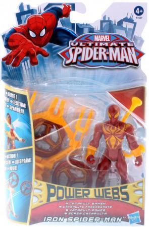 Игровой набор Hasbro Супер-паутина Iron-Spider-Man 2 предмета A1527 пластилин spider man 10 цветов