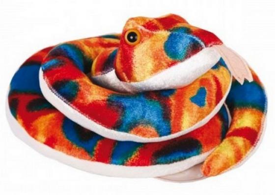 Мягкая игрушка Gulliver Змейка Пеструшка 27 см 21950901 цвет радуга