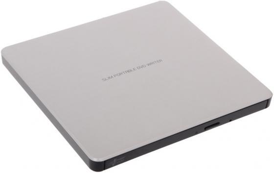 Внешний привод DVD±RW LG GP60NS60 USB 2.0 серебристый Retail внешний оптический привод lg bp50nb40 bp50nb40