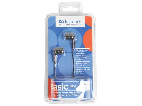 Наушники Defender Basic-604 черный 63604 цена