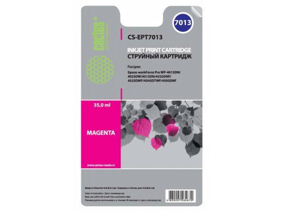 Картридж Cactus CS-EPT7013 для Epson WorkForce WF-4015/4020/4025/4095/4515/4525 пурпруный картридж cactus cs ept7011 для epson workforce wf 4015 4020 4025 4095 4515 4525 черный