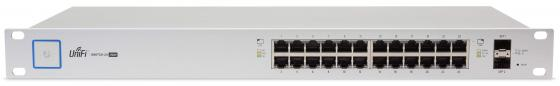 Коммутатор Ubiquiti UniFi Switch 24 250W управляемый UniFi 24 порта 10/100/1000Mbps PoE(250W) 2xSFP US-24-250W(EU)