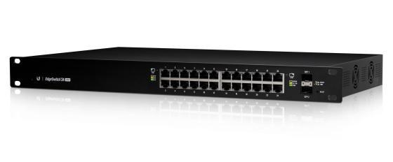 Коммутатор Ubiquiti EdgeSwitch 24 250W управляемый L2 порта 10/100/1000Mbps PoE(250W) 2xSFP ES-24-250W(EU)
