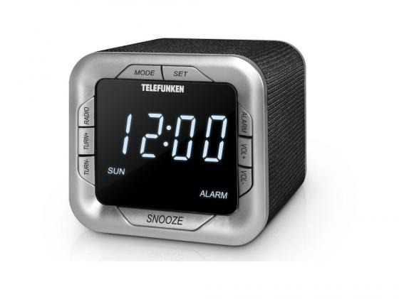 Часы с радиоприёмником Telefunken TF-1505 белый чёрный часы с радиоприёмником aeg mrc 4119 p black чёрный