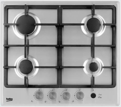 Варочная панель газовая Beko HIMG 64235 SX серебристый beko himg 64235 sx
