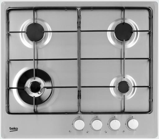Варочная панель газовая Beko HIMW 64223 SX серебристый цена и фото