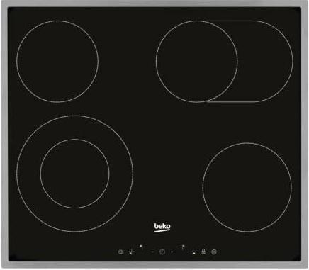 Варочная панель электрическая Beko HIC 64403 X черный цена