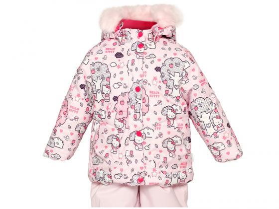 Куртка Huppa Cathy Розовая с котятами 74 см полиэстер с капюшоном 1676BH14-403-074