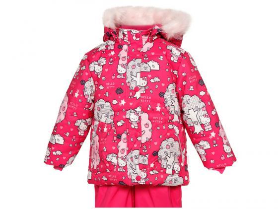 Куртка Huppa Cathy розовая с котятами 74 см полиэстер с капюшоном 1676BH14-463-074