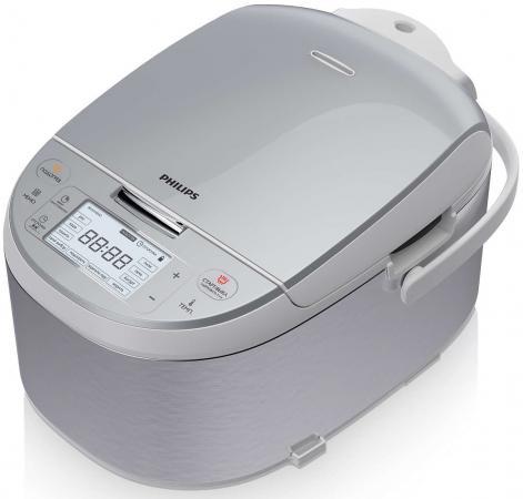 Мультиварка Philips HD3095/03 860Вт 4л серебристый мультиварка philips hd4734 03