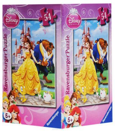 Пазл Ravensburger Принцесса Красавица и чудовище 54 элемента пазл ravensburger 2 в 1 филли принцесса скарлет 24 элемента 075775