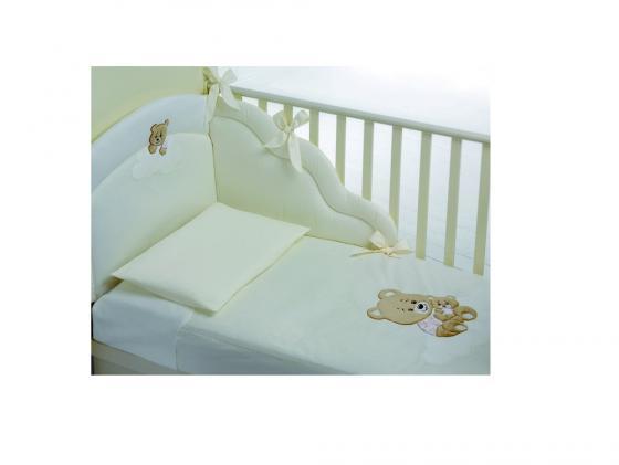 Постельный сет Baby Expert Abbracci- Trudi (бежевый) аксессуары для детской комнаты baby expert полка вешалка abbracci by trudi