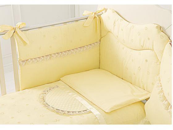 Постельный сет 4 предмета Baby Expert Diamante (крем) кровать baby expert кровать baby expert abbracci by trudi крем