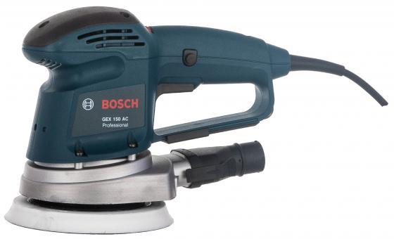 Эксцентриковая шлифмашина Bosch GEX 150 AC 340Вт 150мм 0601372768 тарелка опорная bosch 150мм мягкая для gex 2 608 601 115