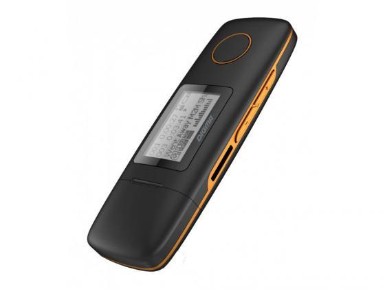 Плеер Digma U3 4Gb черный/оранжевый 291208 mp3 плеер digma u3 4gb черный оранжевый