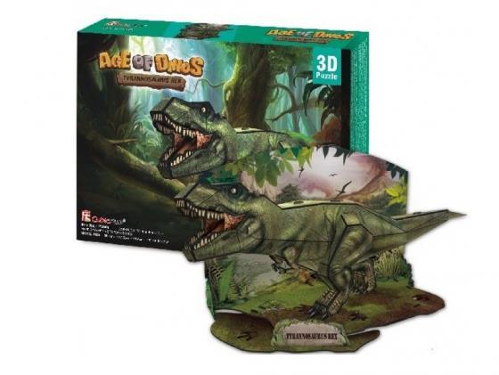 Пазл 3D 36 элементов CubicFun Эра Динозавров: Тираннозавр P668H cubicfun пазл 3d эра динозавров трицератопс cubicfun