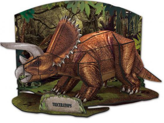 Пазл 3D 41 элемент CubicFun Эра Динозавров Трицератопс PP669h cubicfun пазл 3d эра динозавров трицератопс cubicfun