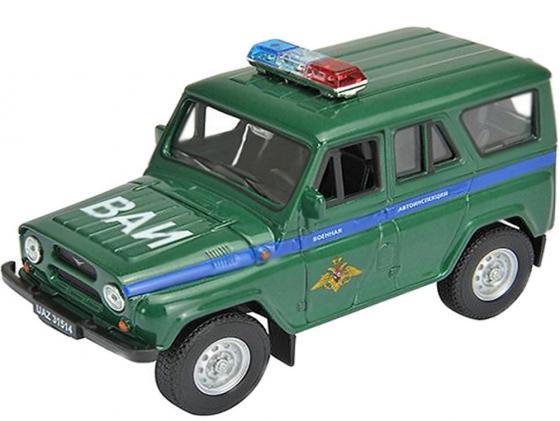 Автомобиль Welly УАЗ 31514 Военная Автоинспекция 1:34-39 зеленый 4891761238070 autotime collection 11446 уаз 31514 вдв