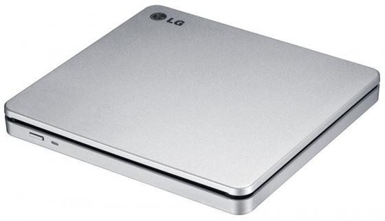 Внешний привод DVD±RW LG GP70NS50 USB 2.0 серебристый Retail оптический привод dvd rw lg gp60nb60 внешний usb черный ret