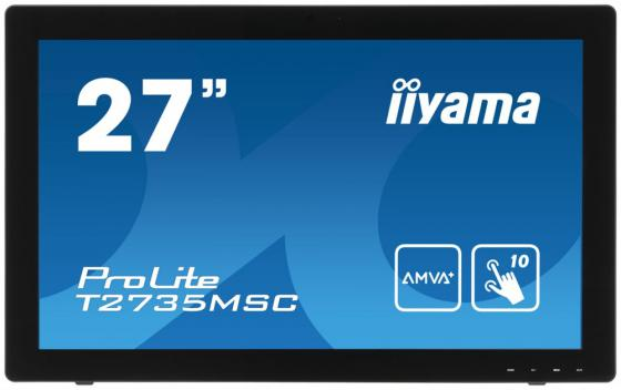 Монитор 27 iiYama Pro Lite T2735MSC-B2 черный A-MVA 1920x1080 255 cd/m^2 5 ms DVI VGA HDMI Аудио USB new usb programmer kit for burning m nt68676 2a hdmi dvi vga audio lcd controller board windows xp w7