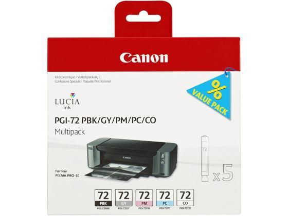 Картридж Canon PGI-72PBK/GY/PM/PC/CO для PRO-10 мультипак 6403B007 чернильный картридж canon pgi 29pm