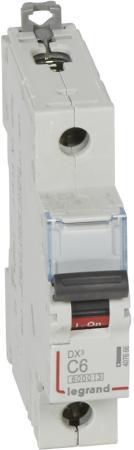 Автоматический выключатель Legrand DX3 6000 10кА тип C 1П 6А 407666 автоматический выключатель tdm ва47 100 1р 35а 10ка d sq0207 0006