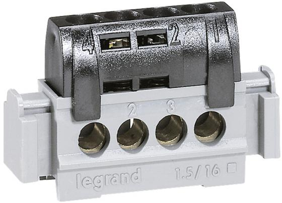 Клеммная колодка Legrand 4х1.5-16мм /фаза 4850 клеммная колодка legrand программа plexo 4 клеммы 4мм2 для распределительных коробок dlplus 31210