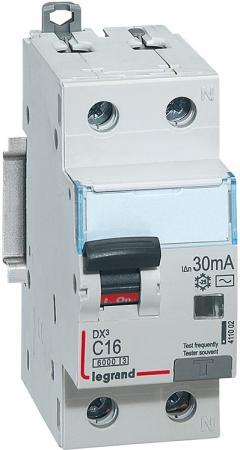 Выключатель дифференциального тока Legrand DX3 1П+Н C16А 30MA-AC 411002