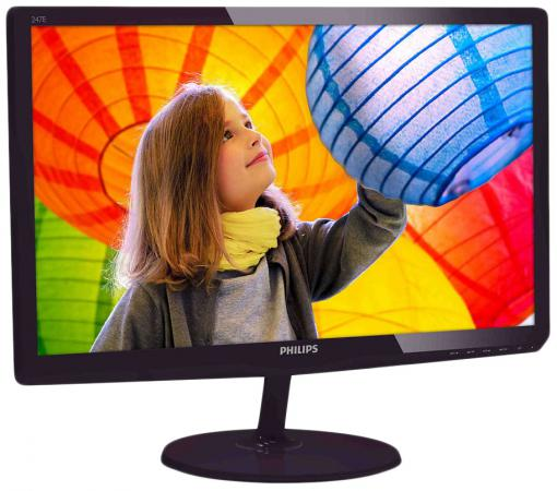 Монитор 24 Philips 247E6QDAD 00/01 черный красный IPS 1920x1080 250 cd/m^2 5 ms DVI HDMI VGA Аудио монитор 23 8 philips 240v5qdab черный ads ips 1920x1080 250 cd m^2 5 ms dvi hdmi vga аудио