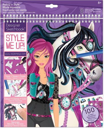 Набор для творчества Style Me Up Альбом с трафаретами Модная наездница от 8 лет 1435 наборы для творчества wooky style me up стильные кольца