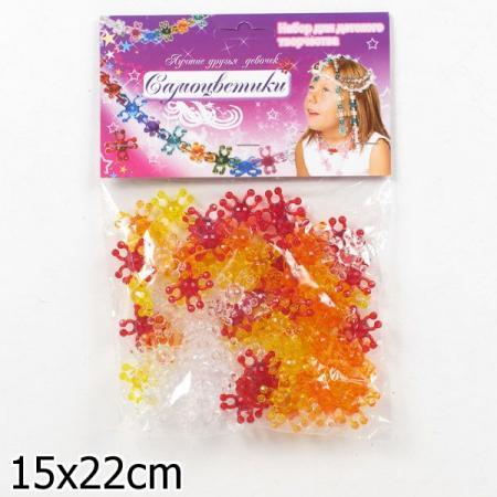 Набор для творчества Биплант Самоцветики в пакете № 1 (красный) 80 шт 11012 набор для творчества биплант красотка 60 шт