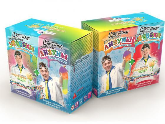Игровой набор Инновации для детей Цветные червяки и лизуны 827 янг э 10 заповедей успешного брака