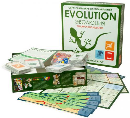 Настольная игра стратегическая Правильные игры Эволюция. Подарочный набор. 3 выпуска игры + 18 новых карт 13-01-04