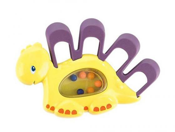 Погремушка-прорезыватель Bright Starts Динозаврик с 3 месяцев желтый 52029-2 bright starts игрушка прорезыватель динозаврик цвет зеленый