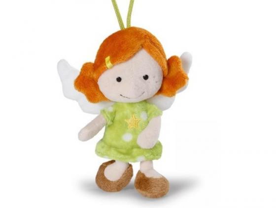 Мягкая игрушка ангелочек NICI Ангел-хранитель, с петелькой 15 см зеленый плюш 37332 мягкие игрушки nici мягкая игрушка ангел хранитель