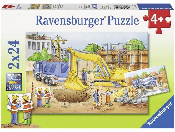 Набор пазлов 48 элементов Ravensburger Стройплощадка 8899 ravensburger пазл 2 в 1 стройплощадка 48 деталей