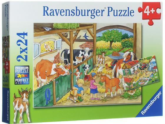 Набор пазлов 48 элементов Ravensburger День на ферме 9195 ravensburger набор пазлов щенячий
